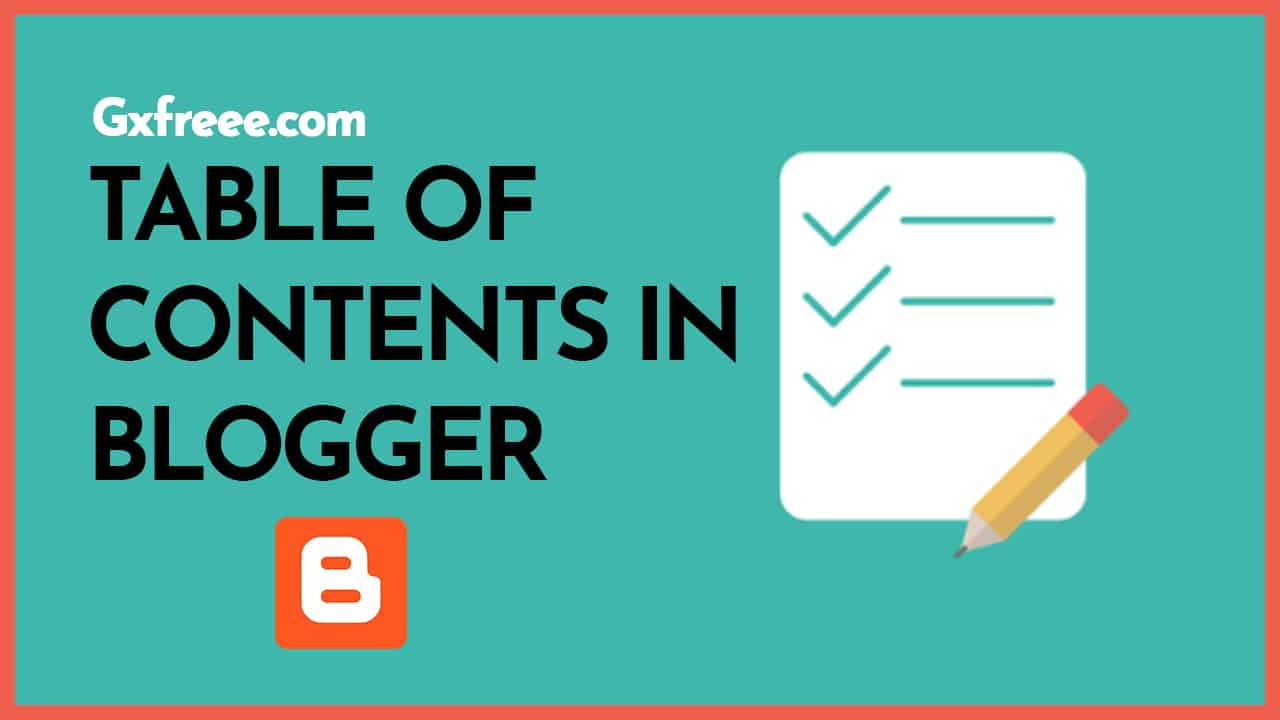 table of contents in blogger